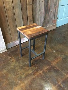 Reclaimed Wood Bar Stools Patchwork Industrial Stool