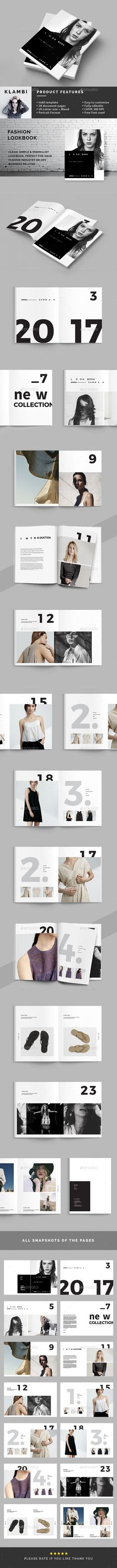 Fashion Lookbook — InDesign Template #clothes #modern • Download ➝ https://graphicriver.net/item/fashion-lookbook/16691612?ref=pxcr