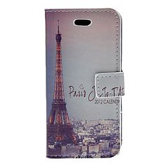 Eiffel Tower at Night Pattern PU Full Body Case with Stand and Card Slot for iPhone 5C – USD $ 6.99