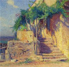 House with Vine and Staircase - Henri Martin