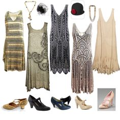 I love Jazz Age Wardrobe.Jazz isn't too bad either. 20s Fashion, Art Deco Fashion, Fashion History, Timeless Fashion, Vintage Fashion, Vintage Outfits, Vintage Dresses, 20s Dresses, 20s Mode