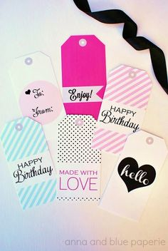 Free Printable Gift Tags - looks compatible with washi?