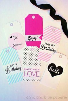 Gift Tags - Free Printable @annaandbluepaperie