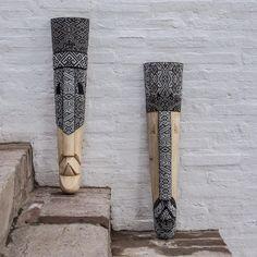"""Diseño_Colombia_ADC on Instagram: """"Máscaras talladas en madera enchapadas con chaquiras. Sibundoy, Putumayo. Edición especial para @diseno_colombia. Foto: @comomonos…"""" Instagram, Colombia"""