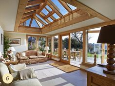 Bring the outdoors inside. Garden room with ceramic tile flooring Express Flooring Phoenix, Arizona click the image or link for more info. Garden Room Extensions, House Extensions, Kitchen Extensions, Patio Interior, Interior And Exterior, Oak Framed Extensions, Cottage Extension, Orangery Extension Kitchen, Oak Frame House