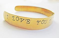Personalized Bracelet I love you to the moon and back by RobertaValle, $9.00