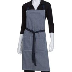 The Indigo Blue Portland Bib Apron From Chef Works Is Available From Tundra  Restaurant Supply.