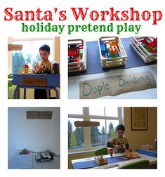 Santa's Toy Shop Pretend Play from No Time for Flashcards