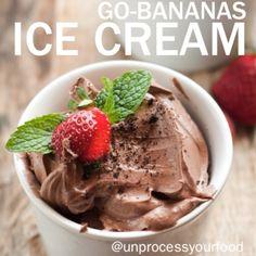 Chocolate banana ice cream.
