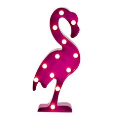 Add an elegant glow to your table decoration with our giant light up Flamingo. This bright tropical light is the ideal eye catching addition to