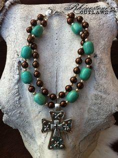 Blingaholic Turq Cross - $45