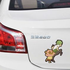 10pcs Funny Car Styling One Piece Zoro Chopper Car Stickers Decals //Price: $23.00 & FREE Shipping //     #onepiecelover #onepieceatatime #dluffystore