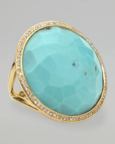 Turquoise Lollipop Ring by Ippolita at Neiman Marcus.