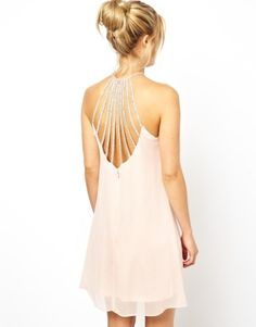 Embellished Cage Skater Dress