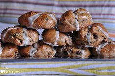 Hot Cross Buns (made gluten free)! One of the foods most associated with the Easter season, but certainly yummy enough to make and enjoy any time of year!