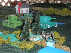 Russian KV tanks on the attack!