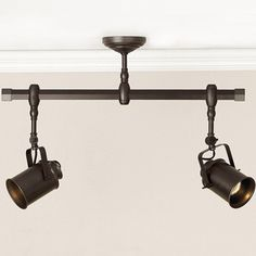 track lighting, pottery barn