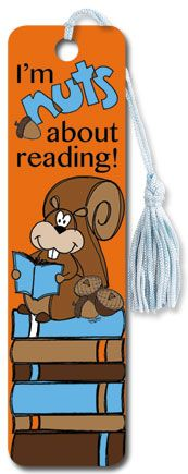 Nuts for Reading - Tasseled Bookmark