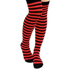 Halloween Sexy Witch Dress Up Stockings Red & Black Striped #TrickorTreat #sexy