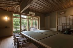 Image 7 of 27 from gallery of A House with a Ryūrei Style Tea Room / Takashi Okuno & Associates. Photograph by Shigeo Ogawa Japanese Architecture, Architecture Design, Japanese Tea House, Zen Style, Ping Pong Table, Traditional, Gallery, Room, Furniture