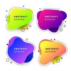 Modelos de banner abstrato com formas gr. Web Design, Game Design, Logo Design, Vintage Grunge, Web Layout, Layout Design, Banner Vertical, Banners, Free Instagram
