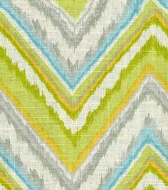 Home Decor Print Fabric-Dena Chevron Charade Citrus