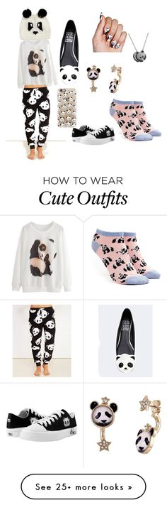 """Panda comfy outfit"" by catbergey on Polyvore featuring Forever 21, Casetify, Fremada, Blueberry Hill, Wet Seal, Cute To the Core and Betsey Johnson"
