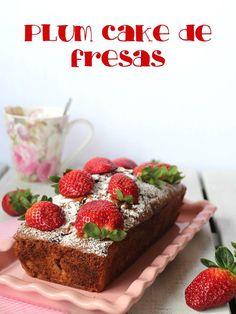 Plum cake de fresas