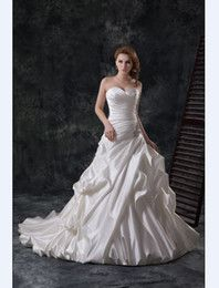 Buy Lace Up Chapel Train Satin Ball Gown Wedding Dresses Online at Low Cost from Ball Gown Wedding Dresses Wholesalers | DHgate.com - Page 4