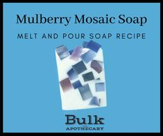 Looking to improve your soap making skills? Try this easy recipe by Bulk Apothecary for Mulberry Mosaic Soap that is a melt and pour variety. Soap Cutter, Soap Melt And Pour, Homemade Soap Recipes, Soap Base, Soap Molds, Glass Containers, Home Made Soap, Soap Making, Apothecary