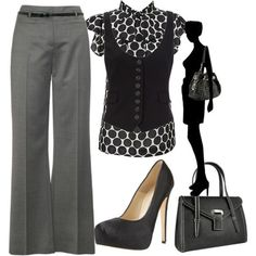 Gray & Black   I actually think I can come up with this from my new closet full of clothes thanks to my BFF :)