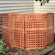 Great cover for air conditioner Yard Privacy Screens-Privacy Patio Screen-Outdoor Wood Privacy Screens Privacy Screen Outdoor, Backyard Privacy, Privacy Screens, Pool Toy Storage, Toy Storage Bins, Outdoor Living, Outdoor Decor, Outdoor Ideas, Outdoor Spaces