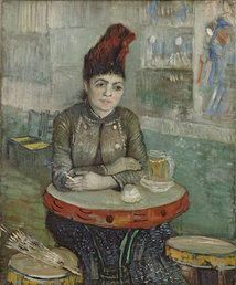 Vincent van Gogh (1853-1890), In the café: Agostina Segatori in Le Tambourin, 1887. Van Gogh Museum, Amsterdam (Vincent van Gogh Foundation). More info: http://www.vangoghmuseum.nl/vgm/index.jsp?page=3652&lang=en
