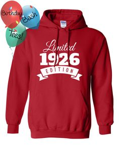 1926 Birthday Hoodie 90 Limited Edition by BirthdayBashTees