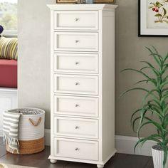 Charlton Home Savion Capri 7 Drawer Lingerie Chest Color: White Tall Skinny Dresser, Bedroom Furniture, Bedroom Decor, Master Bedroom, Master Master, Bedroom Inspo, Furniture Decor, Bedroom Ideas, Lingerie Storage