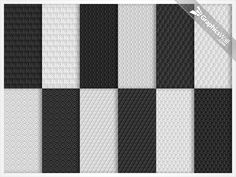 Gray Seamless Pattern Set for Web Designers | GraphicsWall