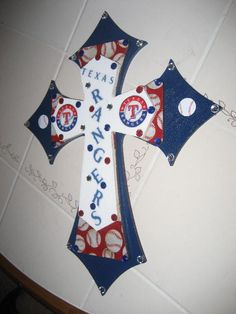 Wall Cross for the Texas Ranger Fan by cthorses66 on Etsy
