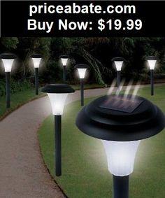 Farm-Garden: 8x Solar LED Pathway Light Accent Outdoor Garden Waterproof Landscape Set New - BUY IT NOW ONLY $19.99