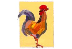 "Ry Smith, Rooster on OneKingsLane.com  Ode to my Grandfather 25""x19"" $189"