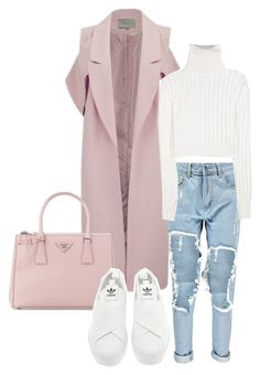 """""""Pinky"""" by sofiairis ❤ liked on Polyvore featuring Lavish Alice, Prada, Boohoo, Calvin Klein Collection, adidas, women's clothing, women's fashion, women, female and woman"""