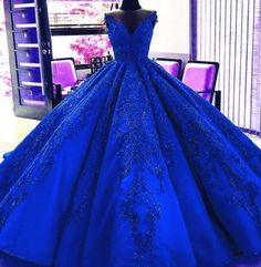 Gorgeous Royal Blue Appliques Beads Quinceanera Dresses, Formal Ball Gown Prom Dress Welcome to our store.Thanks for your interested in our gowns. We could make the dresses according to the pictures came from you,we welcome r Blue Ball Gowns, Ball Gowns Prom, Ball Dresses, Evening Dresses, Prom Dresses, Wedding Dresses, Gown Wedding, Sweet 15 Dresses, Elegant Dresses