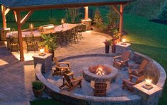 flip flop the fire pit and pergola for my backyard Patio Pergola, Backyard Patio Designs, Backyard Landscaping, Patio Ideas, Backyard Seating, Landscaping Ideas, Backyard Ideas, Nice Backyard, Desert Backyard
