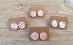 Polymer Clay Stud Earrings: Sandstone