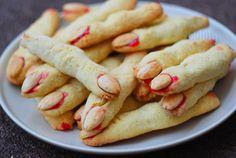 Honey & Butter: Halloween Witch Finger Cookies (Almond Shortbread + Raspberry Jam)