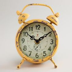 LOVE THIS!! Yellow Vintage-Style Magnet Clock