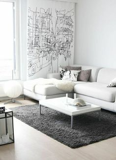 wohnzimmer gestalten wohnideen wohnzimmer wohnzimmer einrichten wohnzimmer design schwarzer teppich Einrichtungsideen fürs Wohnzimmer