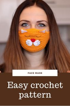 Easy pattern face mask Allergy cotton mask tutorial crochet pattern face mask adult Reusable Mask - Best Picture For crochet face mask For Your Taste You are looking for something, and it is going - Crochet Mask, Crochet Faces, Free Crochet, Animal Face Mask, Cat Face Mask, Face Masks, Face Face, Easy Crochet Patterns, Tutorial Crochet