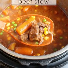 The Best Instant pot beef stew - Step 6 (best beef stew recipe crock pots) Best Beef Stew Recipe, Stew Meat Recipes, Cooking Recipes, Healthy Recipes, Cooking Games, Cooking Classes, Yummy Recipes, Instant Pot Pressure Cooker, Eating Clean
