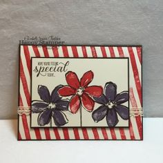 Stampin Up, Garden In Bloom, Brushstrokes, Venetian Trim