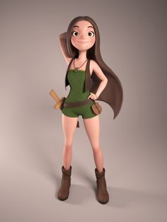 ArtStation - Vilda, Douglas Águila Experiment: What would happen if the hair were treated as cloth physics in 3D animation?
